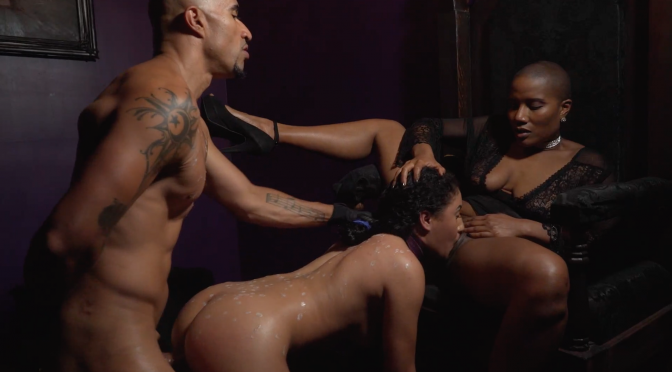 """Seen, Not Heard"" by Royal Fetish Films: King Noire, Jet Setting Jasmine, and Liv Revamped"